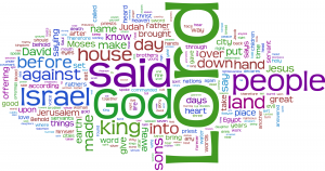 The Bible as a word cloud